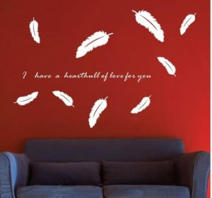 Falling feather wall stickers - stickers, Full House - TV background ...