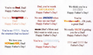 Father's Day Candy Bars