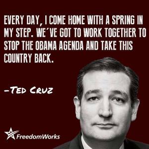 Please keep it up Ted Cruz