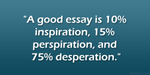 How do you write an essay based on a quote?