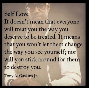 Self love and self respect