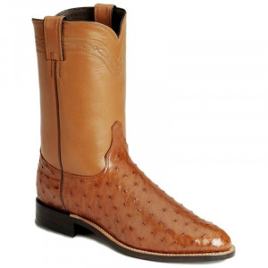 Justin Men's Full Quill Otrich Boot 3186 view 1 ?>