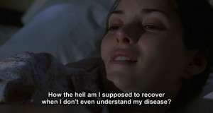 ... hell am I supposed to recover when I don't even understand my disease