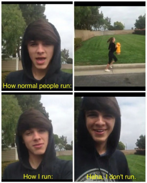 cute, exercise, funny, quote, quotes, vine, brent rivera, vine boys