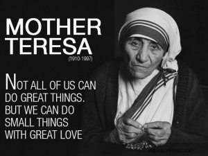 Mother Teresa Love Quotes