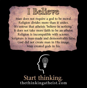 Funny, Godless Left, Belief, Funny Atheist Quotes, Atheist Wedding ...