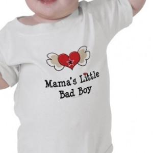 Mama's Little Bad Boy Funny Baby Onesie