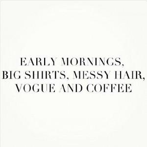 Early mornings ♥