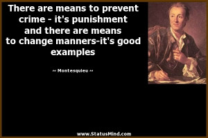 There Are Means To Prevent Crime Its Puishment And There Are Means To ...