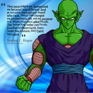 ... piccolo, the demon king, today i am piccolo, guardian of planet earth