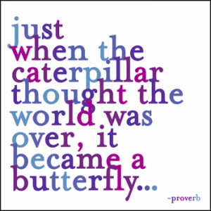 Just When The Caterpillar Thought - Greeting Card - Quotable Cards