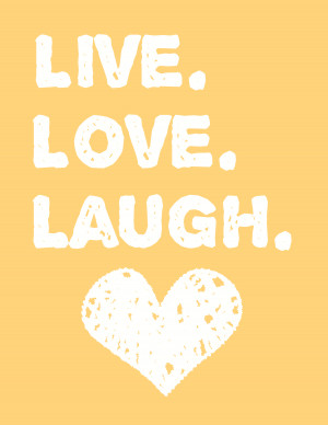 Free printable Live Love Laugh wall art for your home decor! And ...