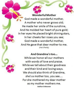 Christian Mother Day Poems Quotes