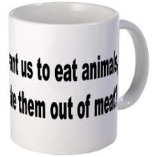 Humorous Anti-Peta Animal Meat Quote Mug for