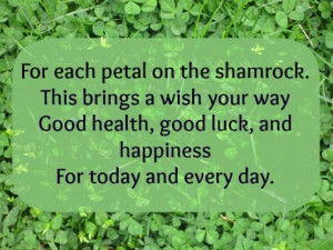 Irish Blessings and Good Luck Sayings