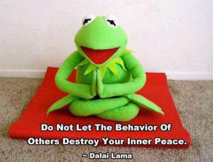 short message from Kermit the Frog and the Dalai Lama