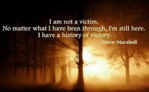 am not a victim.