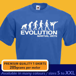 Ape EVOLUTION of MARTIAL ARTS taekwondo kickboxing karate funny mens ...