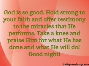 God is so good...