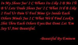 Eminem Beautiful Chorus Quote Image