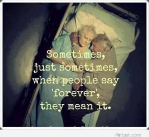 Amazing love quote with two old people picture