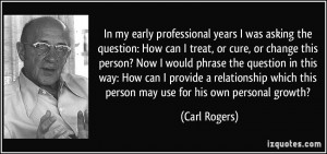 In my early professional years I was asking the question: How can I ...