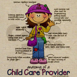 Anatomy of a Child Care Provider Infographic