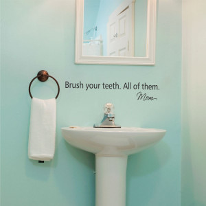 Brush Your Teeth Wall Quotes™ Decal