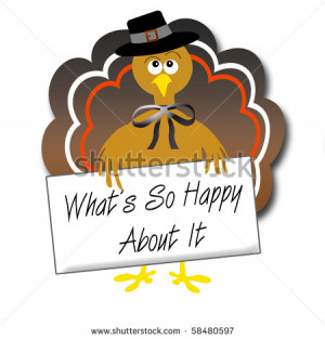 sarcastic pilgrim turkey with protest sign illustration - stock photo