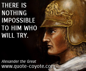 alexander the great quotes on death