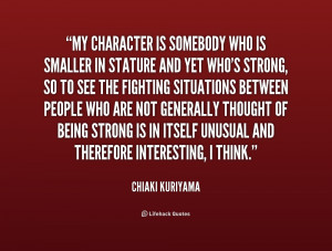 Strong Character Quotes