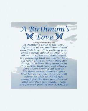 Adoption Art Print for Birth Mother 8x10. $11.00, via Etsy.