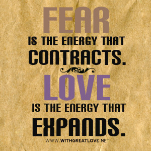 fear is the energy quotes