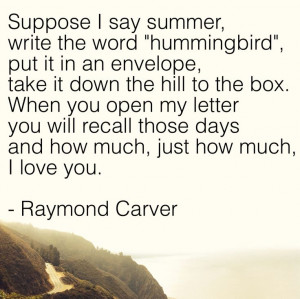 Hummingbird by Raymond Carver