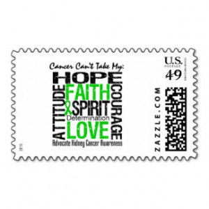 Cancer Can't Take My Hope Collage Kidney Cancer Postage