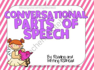 FREEBIE! Conversational Parts of Speech from BexM30 from BexM30 on ...