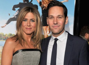 ... Paul Rudd arrive at the Los Angeles premiere of 'Wanderlust' Thursday