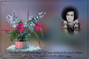 You should completely forget the help rendered by you to others and ...