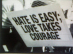 hate, love, peace, protest, slogan, war