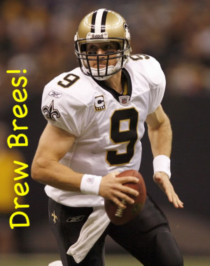 Drew Brees Large Back Image