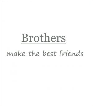 Brothers Make the Best Friends Vinyl Wall Decal Shared Boys Bedroom or ...