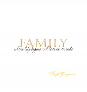 Home > Family & Home > FAMILY where life begins and love never ends
