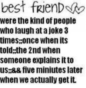 We couldn't live without best friends!!