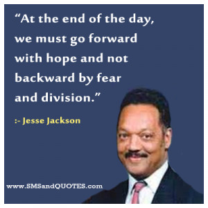 ... difference between me and them is that I'll look at Jesse Jackson