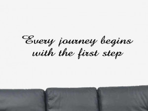 Every Journey Begins With the First Step Positive by DecalsWallArt, $ ...