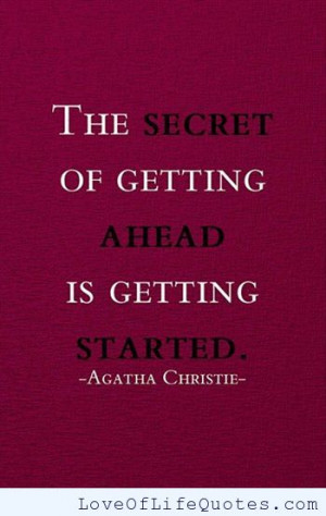 Agatha Christie quote on getting ahead