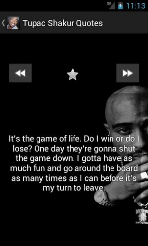 View bigger - Tupac Shakur Best Quotes for Android screenshot