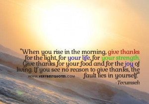 Morning quotes giving thanks quotes