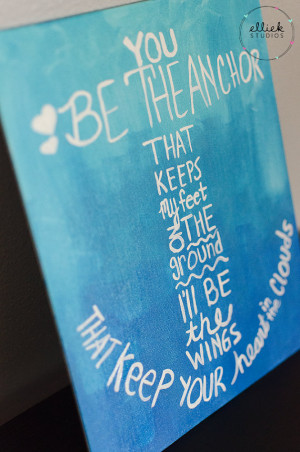 Ombre Anchor Quote Acrylic Canvas Painting 8x10