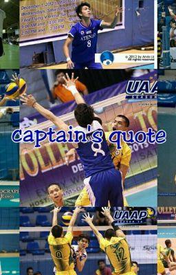 Captain's Quote [UAAP - YSAY MARASIGAN ONE SHOT ]